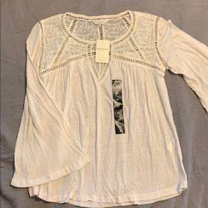 Brand New Lucky Brand Bell Sleeve blouse.